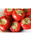 Red pepper filled with...